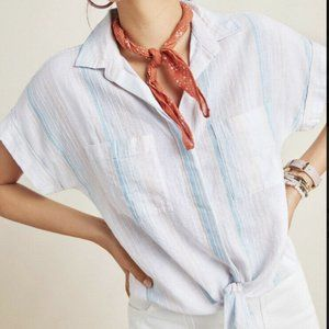 Anthropologie Cloth & Stone Liya Tie Front Top